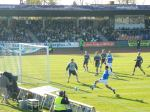 Lyngby attack the Brondby goal