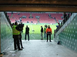 Ready in the tunnel at Parken