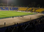 The hardcore fans congregate behind the goal at Levski Sofia