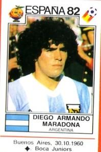 1 Maradona 1982 Pannini