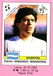 3 Maradona 1990 Pannini