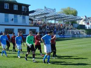 The teams emerge to an almost San Siro welcome