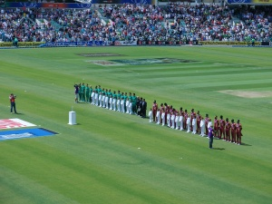 The national anthems - West Indies one is brilliant!