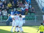 England celebrate their opening goal versus Finland