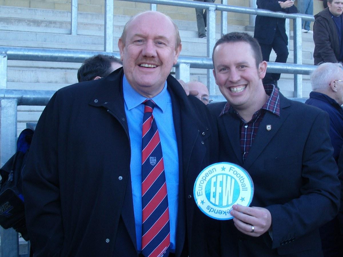 Brian Barwick? at Lewes? With Danny Last